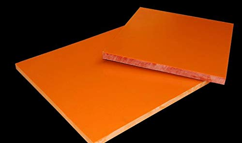 CynKen 1 Piece 10x500x500mm Red Bakelite Phenolic Resin Flat Plate Sheet PCB