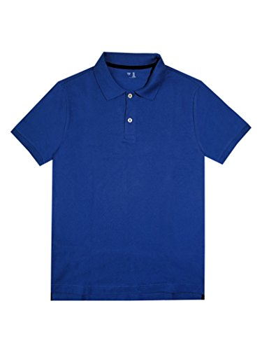 GAP Men's Solid Color Polo Shirts (S, Dark Blue)