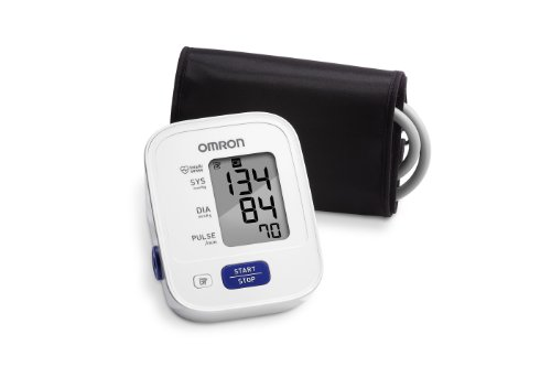 Omron 3 Series Upper Arm Blood Pressure Monitor; 14-Reading Memory, Soft Wide-Range Cuff, #1 Dr. Recommended by Omron - One Touch Fine Point