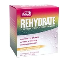 Advocare Rehydrate - Mango Pineapple 14 Pouches - Spark Fruit Punch Canister