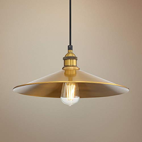 "Possini Euro Priam 14 1/4"" Golden Metal Pendant Light - Possini Euro Design"