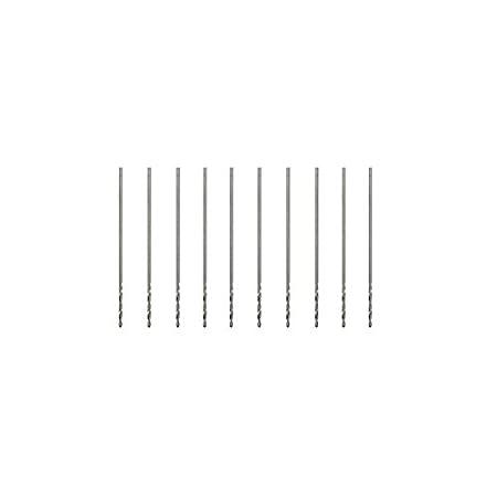 EsportsMJJ 10Pcs 3.175 mm Ca/ña 0.2-0.9 mm Hss Twist Brocas-0.2 mm