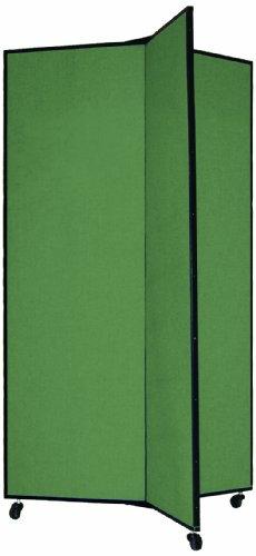 Screenflex Display Tower (CDS603-DN) 5 Feet 9 Inches High, 3 Panels, Designer Mallard Fabric - Screenflex Freestanding Panels