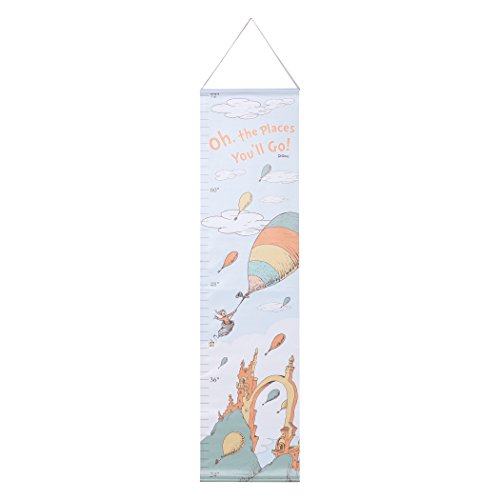 Trend Lab Dr. Seuss Oh The Places You'll Go Canvas Growth Chart, Orange/Yellow/Green/Blue/White