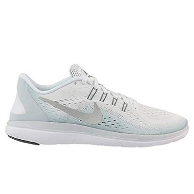 Nike Women's Flex 2017 Rn White/Metallic Silver Ankle-High Cross Country Running Shoe - 10M