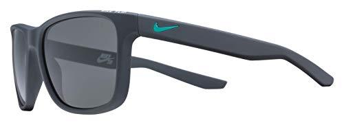 Nike Men's Flip Rectangular Sunglasses, Matte Anthracite, 53 ()