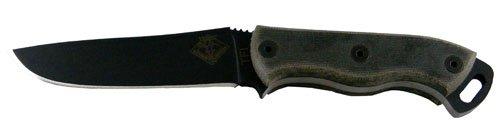 Ranger Fixed Blade (Ontario Knife Ontario Ranger TFI 3 in Fixed Blade Micarta Nylon Sheath, Black)