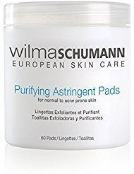 (WILMA SCHUMANN Purifying Astringent Pads (60 Pads) - Remove Oil, Impurities, and Dead Skin Cells With Antibacterial Salicylic and Glycolic Acids)