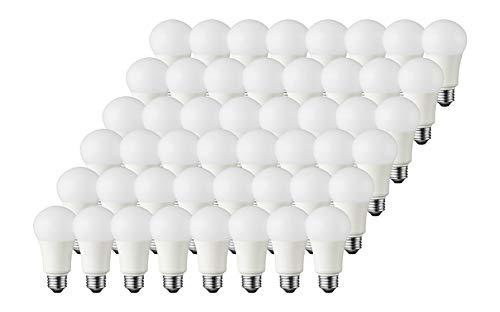 TCP 60 Watt A19 LED Daylight 48 Pack, Non-Dimmable Light Bulbs