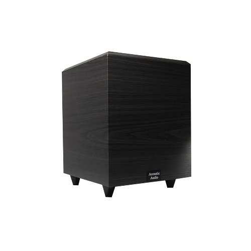 Acoustic Audio PSW-10 400 Watt 10-Inch Down Firing Powered Subwoofer (Black) by Acoustic Audio by Goldwood
