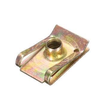 DatC - Maintenance & Repair Tools - M6 6mm Tread Panel Spire Nut Fairing Clip Fastener Speed Zinc Mounting Clamp - 1PCs Zinc Plated 8 Panel