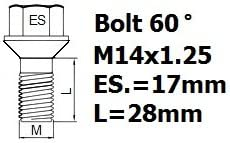 HEYNER STILBLOCK dadi fissaggio ruota 574//5 M14x1.25 BMXGBH