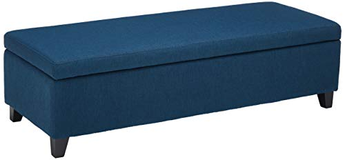 Christopher Knight Home Living Annis Fabric Storage Ottoman Navy Blue , 19.00 D x 51.25 W x 16.00 H