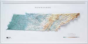 Amazoncom Hubbard Scientific Raised Relief Map Tennessee - Us raised relief topographical map