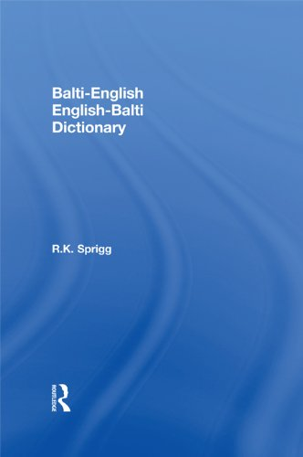 Download Balti-English / English-Balti Dictionary Pdf