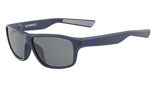 Nike EV0789-402 Premier 6.0 Sunglasses (Frame Grey with Gunmetal Flash Lens), Matte Squadron Blue/Racer - Racer Nike Sunglasses