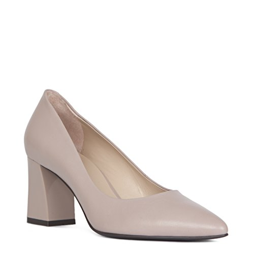 Heel Courts Collection Leather Tj Women's Block XqwTyygfSI