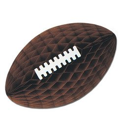 Pkgd Tissue Football w/Laces (brown) Party Accessory  (1 count) (1/Pkg) (Tissue Pkgd)