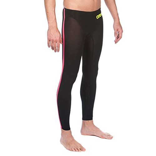 Arena Powerskin R-Evo Open Water Pant, Black/Fluo Yellow, 26 by Arena (Image #2)