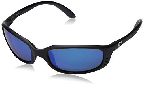Costa Del Mar Brine Polarized Sunglasses, Black, Blue Mirror 580Glass