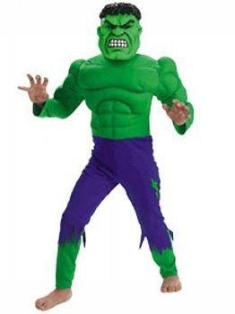 Hulk Muscle Costume - Child Costume deluxe - Medium (Hulk Custome)
