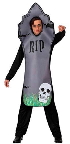 Mens Grey Spooky Creepy Scary Skull Tombstone Graveyard