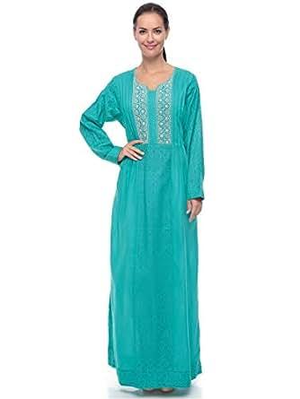 Blueline Fashion Pink Casual Jalabiya For Women