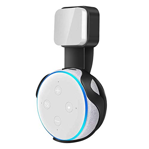 VANKOO Outlet Wall Mount Holder Stand for Echo Dot 3rd Generation Best Space-Saving Dot Accessories with Cord Management for Home Speaker Without Mess Wires or Screws