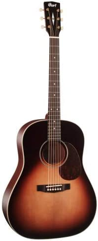 Cort guitarras E100SSFSB earth100f sunburst