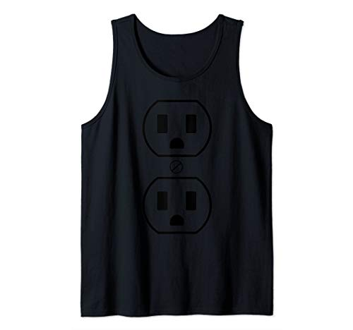 Electrical Outlet Halloween Costume Easy Funny Simple Outfit Tank Top]()