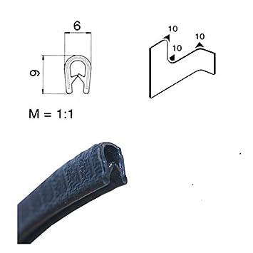 Protector de bordes Eutras KS1001,/perfil de refuerzo,/rango de sujeci/ón de 0,5/ 1546 /1,5/mm,/negro,/5/m