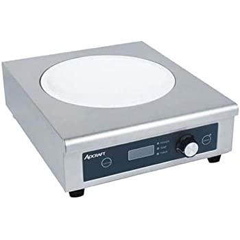 Adcraft Heavy Duty Stainless Steel Countertop Wok Induction Cooker, 120 Volts -- 1 each.