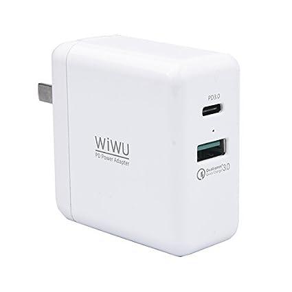 Cargador USB tipo C PD, INorton 45W USB-C PD Smart Cargador ...
