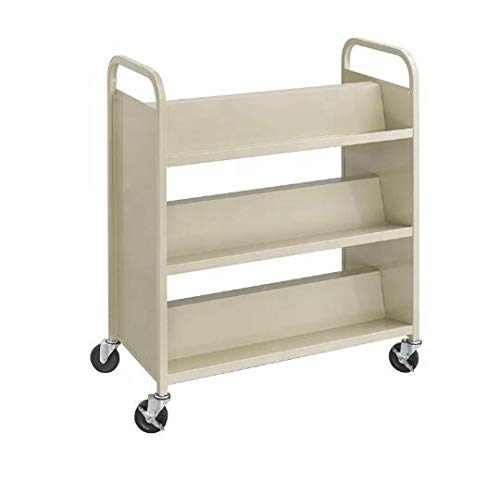 Library Double Sided Book Trolley/Mobile Steel Book Cart for Sale