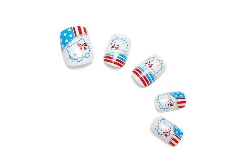 Amazon.com: Hello Kitty Bandera Americana 24 en clavos de ...