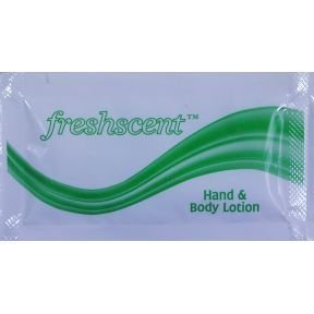 Freshscent Hand & Body Lotion .25oz packet (case of 1000)