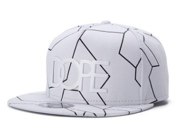 c137a68c5fc Image Unavailable. Image not available for. Color  NEW  DOPE  SNAPBACK CAP  BLACK BASEBALL HIP HOP FITTED FLAT PEAK HAT(WK