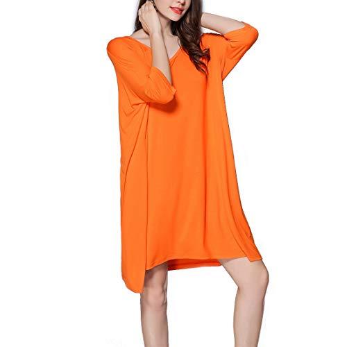 donna Camicia a Color Allattamento V Abito T al shirt Plus Size Orange scollo da Size Gray Amabubblezing seno allattamento L Allentato notte pigiameria ZqxwEXnUq