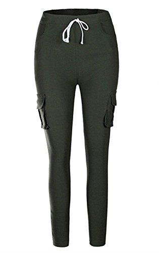 Monocromo Fashion Trousers Coulisse Eleganti Tasche Femminile Elastico Tempo Huixin Costume Pantaloni Skinny Matita Libero Gr Donna Con Cargo A xOPxwq7av