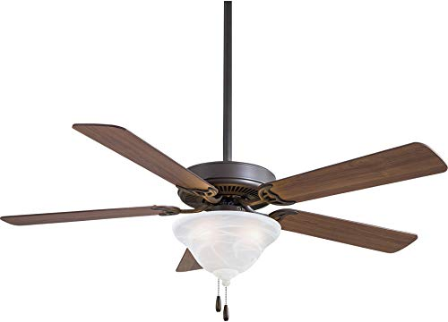 (Minka Aire F548L-ORB Contractor Uni-Pack 52'' Ceiling Fan with LED Light, Brown)