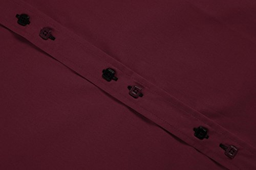Vin Rouge Casual Aimage Chemise Homme zBqwxyIR