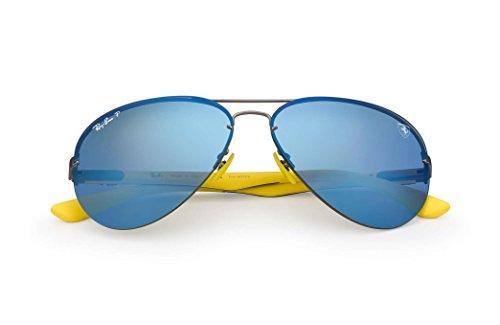 Ray-Ban Men's 0rb3460mf003h059metal Man Polarized Iridium Aviator Sunglasses, Matte Gunmetal, 59 - Ferrari Matte