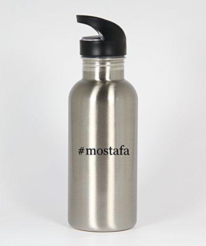 #mostafa - Funny Hashtag 20oz Silver Water Bottle