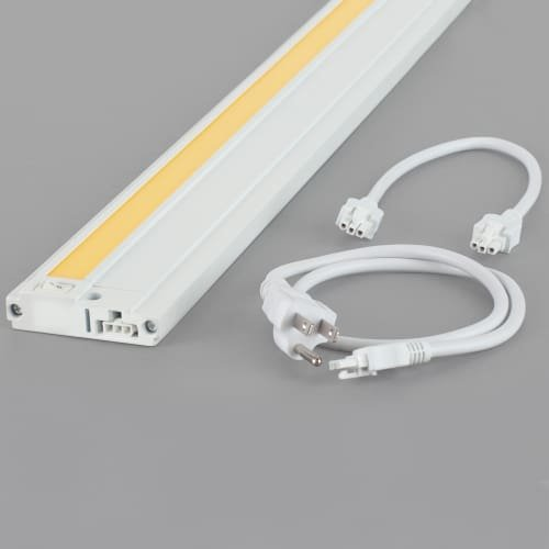 White Tech Lighting (Tech Lighting 700UCF1983W24K Unilume - LED Slimline Undercabinet Kit with Cord, Choose Finish: WHT: White Finish, Color Temperature: 3000K)