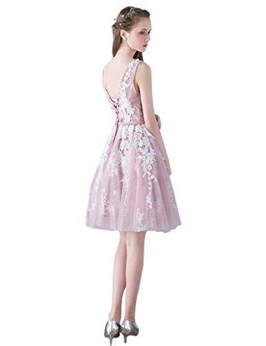 Schulter Abendkleid Spitze Erosebridal Rosa Brautjunferkleid 0qxvnTd