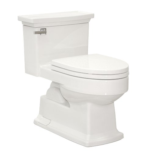 TOTO MS934214SF#01 Lloyd One Piece Toilet with Plastic SoftClose Seat SS214, Cotton White