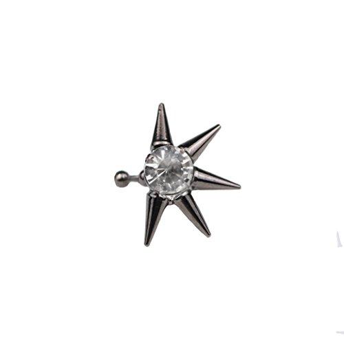 MagiDeal Rhinestone Cartilage Spike Earring