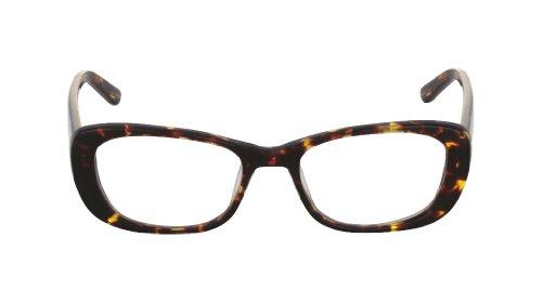 Flutter Women's Ayla Cognac Kyoto clear Lens cat eye/butterfly 50MM Glasses 2 - Eyewear Kyoto