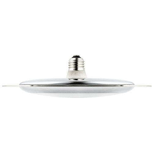 Sunlite UFO/LED/15W/30K/CH/ACRLC Sunlite LED 15W (75W Equivalent) Chrome UFO Pendant Fixture Light Bulbs with Medium (E26) Base ()