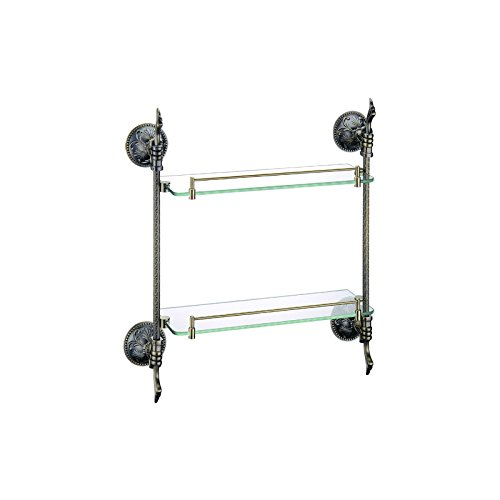 - ULING GS0426-2 Double Glass Shelf Bathroom Hardware